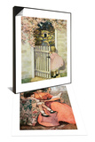 Illustration of Little Girl Walking Through Gate & Book Illustration of Mother and Daughter Set Posters
