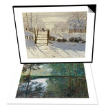 The Magpie, c.1869 & Coin D'Etang A Montgeron, 1876 Set Print by Claude Monet