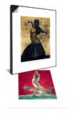 Flamenco Gold & Flowing Dress Set Prints by Fletcher Sibthorp