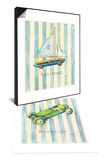 Sailboat & Roadster Set Prints by Catherine Richards