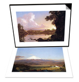 Catskill Creek & Cotopaxi, Ecuador [2] Set Posters by Frederic Edwin Church