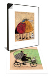 Hugs On The Way Home & Double Decker Bike Set Posters by Sam Toft