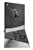 Skateboarder Performing Tricks & BMX Biker Performing Tricks Set Prints