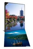Toji Temple, Kyoto, Japan & Mount Fuji and Lake Ashi, Hakone, Honshu, Japan Set Prints by Steve Vidler