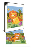 Baby Lion & Baby Tiger Set Posters by Sophie Harding