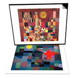 Castle and Sun, 1928 & Fire, Full Moon, 1933 Set Posters by Paul Klee