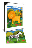 Leo the Lion & Zara the Zebra Set Poster by Sophie Harding