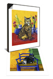 Cat and Tulips II (Chat Tulipes II) & Cats of Provence (Chats de Provence) Set Posters by Isy Ochoa