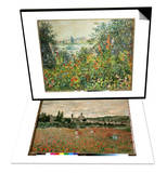 Flowering Meadow, Vetheuil, 1880 & Mohnfeld Bei Vetheuil. Ca.1880 Set Prints by Claude Monet
