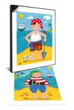 Treasure Island IV & Treasure Island I Set Prints by Sophie Harding