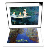 Women Fishing & Monet - Water Lilies Set Prints by Claude Monet