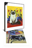 Cat and Tulips I (Chat Tulipes I) & Cat of Burano (Chat de Burano) Set Prints by Isy Ochoa
