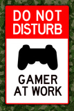 Do Not Disturb Gamer at Work Video PS3 Game Prints