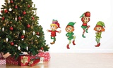 Dancing Elves Wall Decal