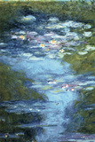 Claude Monet Water Lilies in Pond Print