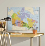 Canada Map Peel and Stick Dry Erase Giant Wall Decals Wall Decal