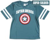 Youth: Captain America - Football Jersey T-shirts
