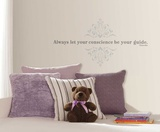 Pinocchio Always Let Your Conscience Be Your Guide Peel and Stick Wall Decals Autocollant mural