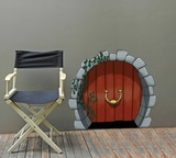 Round Elves Door Wall Decal