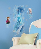 Frozen Ice Palace with Else and Anna Peel and Stick Giant Wall Decals Wall Decal