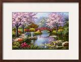 Japanese Garden in Bloom Prints by Sung Kim