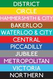 London Underground Tube Lines Travel Kunstdrucke