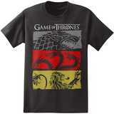 Game of Thrones - 3 House Symbols T-Shirt