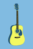 Acoustic Guitar Blue Music Art