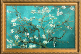 Van Gogh Almond Branches with Gilded Faux Frame Border Posters