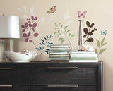Botanical Butterfly Wall Decal