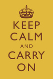Keep Calm and Carry On Mustard Yellow Prints
