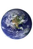 Planet Earth From Space Western Hemisphere White Poster