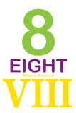 Number 8 with Roman Numeral Banner Poster