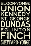 Toronto Metro Stations Vintage RetroMetro Travel Poster