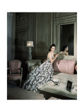 Mrs. Byron C. Foy Wearing Floating Dress Regular Photographic Print by Horst P. Horst