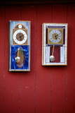 Stained glass clocks in craft shop, Indiana, USA Photographic Print by Anna Miller