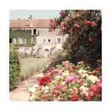 View of the House from the Rose and Flower Filled Garden Regular Photographic Print by Horst P. Horst