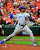 Yordano Ventura Game 2 of the 2014 American League Championship Series Action Photo