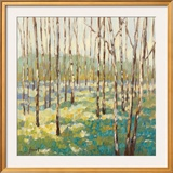 Trees in Blue Green Framed Giclee Print by Libby Smart