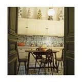 Duplicate of the Kitchen in Contessa Brandolini D'Adda's Paris Apartment Regular Photographic Print by Horst P. Horst