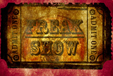 Freak Show Ticket 2 Plastic Sign
