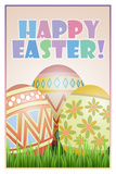 Happy Easter Art Poster Print Posters