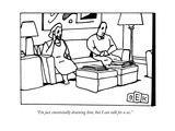 """I'm just emotionally draining him, but I can talk for a sec."" - New Yorker Cartoon Premium Giclee Print by Bruce Eric Kaplan"