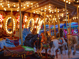 Merry go Round, Indiana State Fair, Indianapolis, Indiana, Photographic Print by Anna Miller
