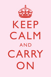 Keep Calm and Carry On Motivational Very Light Pink Art Print Poster Prints
