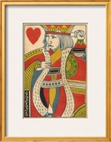 King of Hearts Card Framed Giclee Print