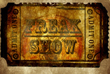 Freak Show Ticket 6 Wall Sign
