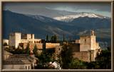 Alhambra With Serra Nevada Framed Photographic Print by Charles Bowman