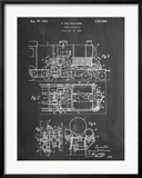 Steam Locomotive Patent Kunstdruck