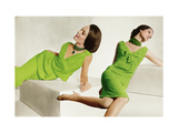 Model in Green Malcolm Starr Dress with Shoulder Sashes and Model in Green Oleg Cassini Dress Regular Photographic Print by Horst P. Horst
